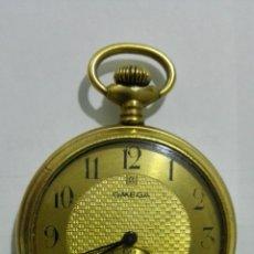 Relojes de bolsillo: RELOJ DE BOLSILLO OMEGA, DIAMETRO 4,5 CM, CAJA LABRADA, FUNCIONA. Lote 182794546