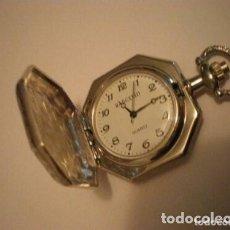 Relojes de bolsillo: RELOJ DE BOLSILLO MARCA BARGELLO COLOR PLATA FORMA OCTOGONAL. Lote 182807851