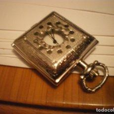 Relojes de bolsillo: RELOJ BOLSILLO MARCA DEMUR DE FORMA CUADRADA NUEVO. Lote 182809011