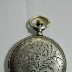 Relojes de bolsillo: RELOJ DE BOLSILLO DE PLATA, LONGINES, FABRICADO EXPRESAMENTE PARA F. VILLEDARY MENDOZA, FUNCIONA. Lote 182857168