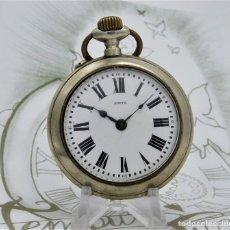 Relojes de bolsillo: META-GRAN RELOJ DE BOLSILLO ROSKPOF-CIRCA 1920-FUNCIONANDO. Lote 182882692