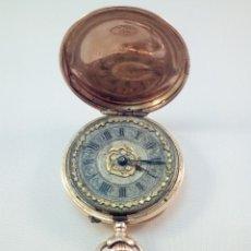 Relojes de bolsillo: ORO 18K., ANTIGUO RELOJ SABONETA. REMONTOIR DIX RUBI.. Lote 182950701