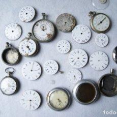Relojes de bolsillo: GRAN LOTE DE PIEZAS RELOJES BOLSILLO MAQUINAS ESFERAS, CAJAS, RELOJES , CUERVO Y SOBRINOS.... Lote 182992722