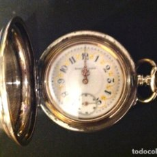Relojes de bolsillo: ANTIGUO RELOJ DE BOLSILLO MARIANO FONT CAJA EN PLATA SIGLO XIX. Lote 182996563