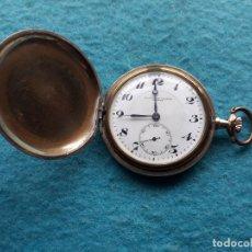 Relojes de bolsillo: RELOJ DE BOLSILLO ANTIGUO MARCA CRONÓMETRO MODERNO QUILLET. CON CAJA CHAPADA EN ORO.. Lote 183001553