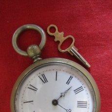 Relojes de bolsillo: ANTIGUO RELOJ FRANCES DE BOLSILLO BEAUCOURT A CUERDA MECÁNICO CON SU LLAVE AÑOS 1850/90 Y FUNCIONA . Lote 183185716