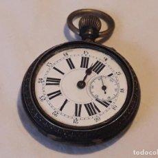 Relojes de bolsillo: ANTIGUO RELOJ ANCRE LIGNE DROITE REMONTOIR 15 RUBIS. Lote 183389146
