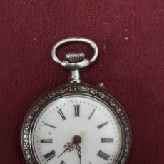 Relojes de bolsillo: RELOJ BOLSILLO PLATA. Lote 183438687