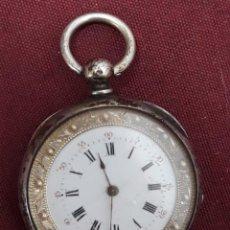 Relojes de bolsillo: RELOJ BOLSILLO PLATA CILINDROS 8 RUBIS. Lote 183439787