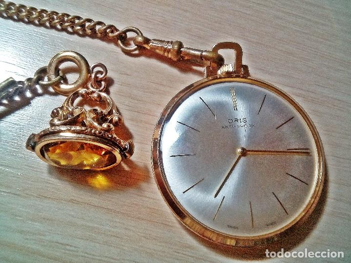 RELOJ ORIS CON CITRINO YELOW. (Relojes - Bolsillo Carga Manual)