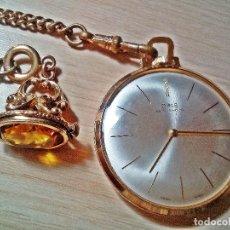 Relojes de bolsillo: RELOJ ORIS CON CITRINO YELOW.. Lote 177952053