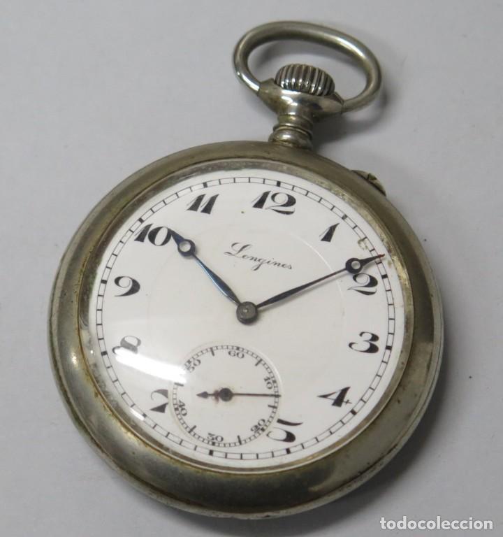 ANTIGUO RELOJ DE BOLSILLO. LONGINES. FUNCIONA (Relojes - Bolsillo Carga Manual)
