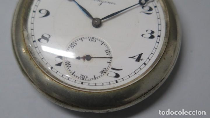 Relojes de bolsillo: ANTIGUO RELOJ DE BOLSILLO. LONGINES. FUNCIONA - Foto 4 - 183480201