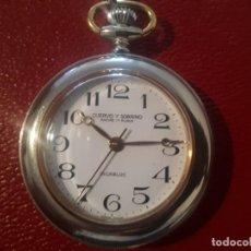 Relojes de bolsillo: FANTÁSTICO RELOJ DE BOLSILLO CUERVO Y SOBRINOS (CARGA MANUAL). Lote 183485238