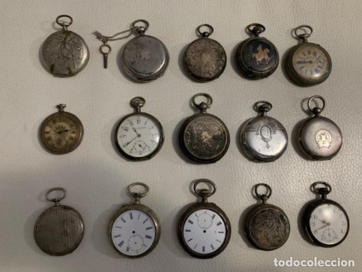 LOTE COMPLETO RELOJES DE BOLSILLO (Relojes - Bolsillo Carga Manual)