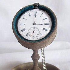 Relojes de bolsillo: RELOJ DE BOLSILLO ANTIGUO PLATA CON RELOJERA Y LEONTINA REVUE THOMMEN SIGLO XIX. Lote 183599081