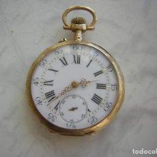 Relojes de bolsillo: RELOJ DE BOLSILLO DE ORO 18KT AÑO 1880. Lote 183606725