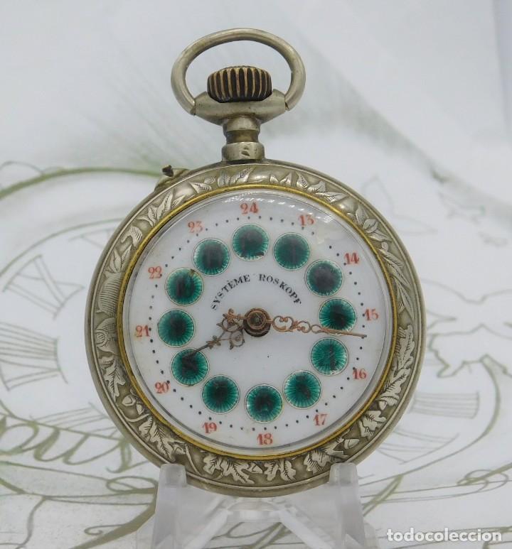 Relojes de bolsillo: SYSTEME ROSKOPF-PRECIOSO RELOJ DE BOLSILLO-CIRCA 1900-FUNCIONANDO - Foto 2 - 183619656