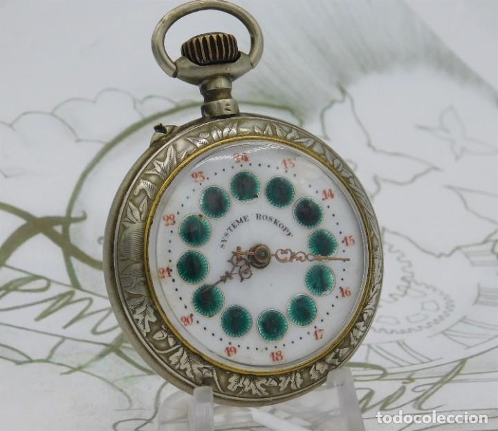 Relojes de bolsillo: SYSTEME ROSKOPF-PRECIOSO RELOJ DE BOLSILLO-CIRCA 1900-FUNCIONANDO - Foto 5 - 183619656