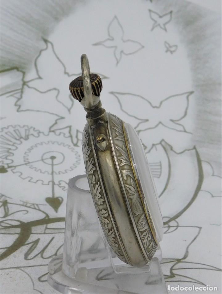 Relojes de bolsillo: SYSTEME ROSKOPF-PRECIOSO RELOJ DE BOLSILLO-CIRCA 1900-FUNCIONANDO - Foto 7 - 183619656