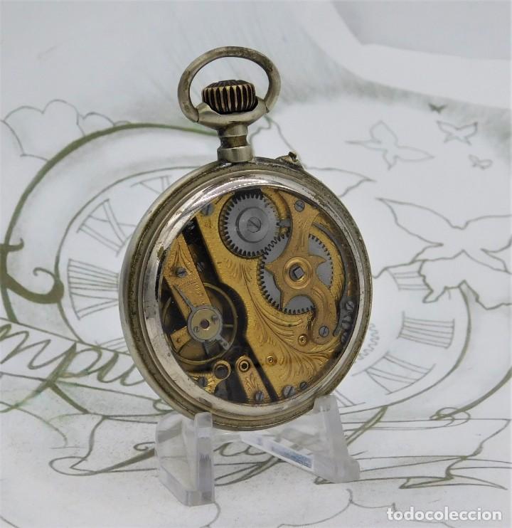 Relojes de bolsillo: SYSTEME ROSKOPF-PRECIOSO RELOJ DE BOLSILLO-CIRCA 1900-FUNCIONANDO - Foto 10 - 183619656