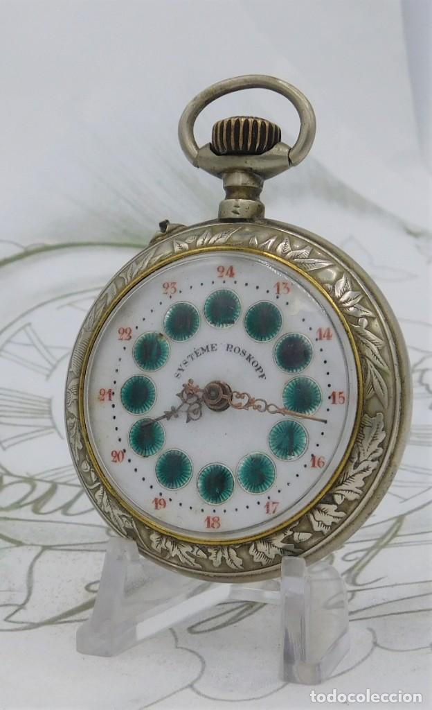 Relojes de bolsillo: SYSTEME ROSKOPF-PRECIOSO RELOJ DE BOLSILLO-CIRCA 1900-FUNCIONANDO - Foto 16 - 183619656