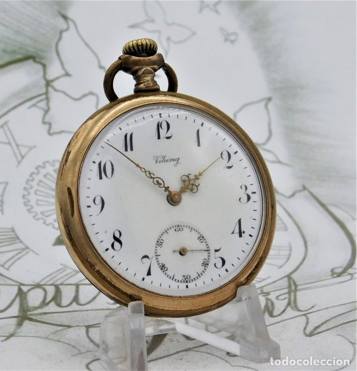 Relojes de bolsillo: VIKING-CORTEBERT-RELOJ DE BOLSILLO-SUIZA-CON LEONTINA-CIRCA 1920-1930 -FUNCIONANDO - Foto 2 - 183799480