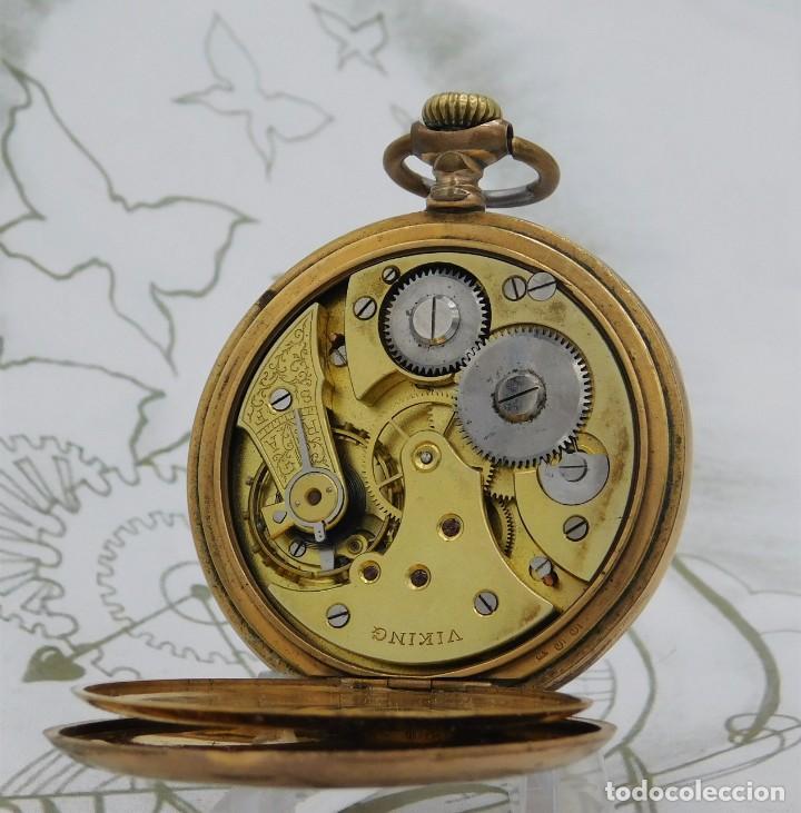 Relojes de bolsillo: VIKING-CORTEBERT-RELOJ DE BOLSILLO-SUIZA-CON LEONTINA-CIRCA 1920-1930 -FUNCIONANDO - Foto 3 - 183799480