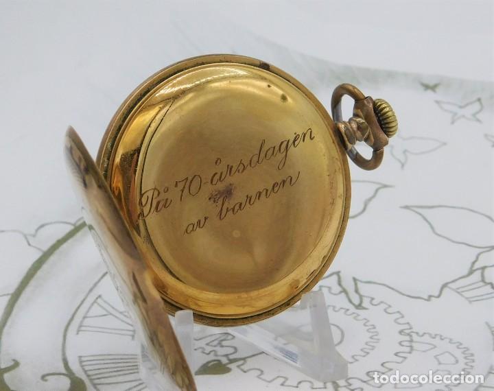 Relojes de bolsillo: VIKING-CORTEBERT-RELOJ DE BOLSILLO-SUIZA-CON LEONTINA-CIRCA 1920-1930 -FUNCIONANDO - Foto 6 - 183799480
