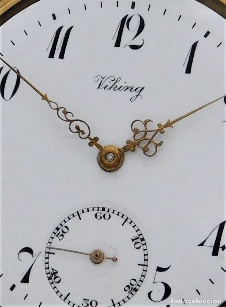 Relojes de bolsillo: VIKING-CORTEBERT-RELOJ DE BOLSILLO-SUIZA-CON LEONTINA-CIRCA 1920-1930 -FUNCIONANDO - Foto 8 - 183799480
