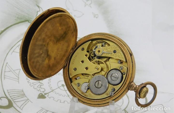 Relojes de bolsillo: VIKING-CORTEBERT-RELOJ DE BOLSILLO-SUIZA-CON LEONTINA-CIRCA 1920-1930 -FUNCIONANDO - Foto 9 - 183799480