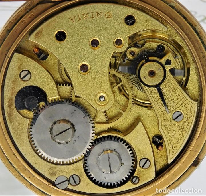 Relojes de bolsillo: VIKING-CORTEBERT-RELOJ DE BOLSILLO-SUIZA-CON LEONTINA-CIRCA 1920-1930 -FUNCIONANDO - Foto 10 - 183799480
