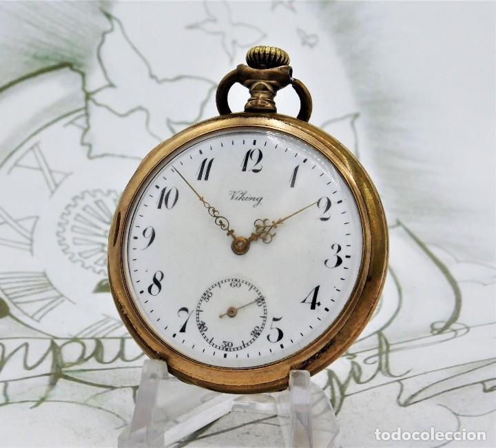Relojes de bolsillo: VIKING-CORTEBERT-RELOJ DE BOLSILLO-SUIZA-CON LEONTINA-CIRCA 1920-1930 -FUNCIONANDO - Foto 13 - 183799480
