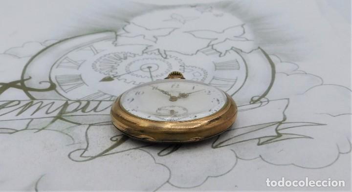 Relojes de bolsillo: VIKING-CORTEBERT-RELOJ DE BOLSILLO-SUIZA-CON LEONTINA-CIRCA 1920-1930 -FUNCIONANDO - Foto 17 - 183799480