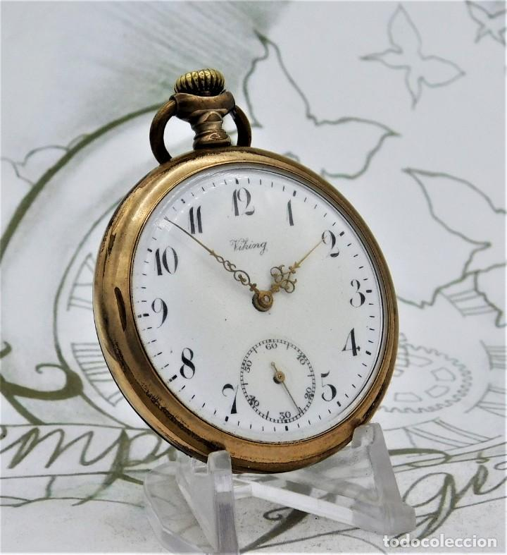 Relojes de bolsillo: VIKING-CORTEBERT-RELOJ DE BOLSILLO-SUIZA-CON LEONTINA-CIRCA 1920-1930 -FUNCIONANDO - Foto 20 - 183799480