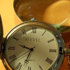 Relojes de bolsillo: RELOJ DE BOLSILLO - STEVEL QUARTZ. FUNCIONANDO. PILA NUEVA. FOTOS VARIAS.. Lote 183883917