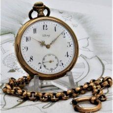 Relojes de bolsillo: VIKING-CORTEBERT-RELOJ DE BOLSILLO-SUIZA-CON LEONTINA-CIRCA 1920-1930 -FUNCIONANDO. Lote 183799480