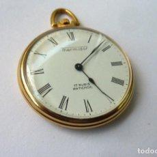 Relojes de bolsillo: RELOJ DE BOLSILLO THERMIDOR ANTICHOC 17 RUBÍS. CHAPADO EN ORO. . Lote 184033761