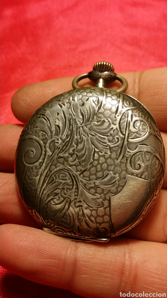 Relojes de bolsillo: Antiguo reloj de bolsillo marca travail medalla de oro - Foto 5 - 184076093