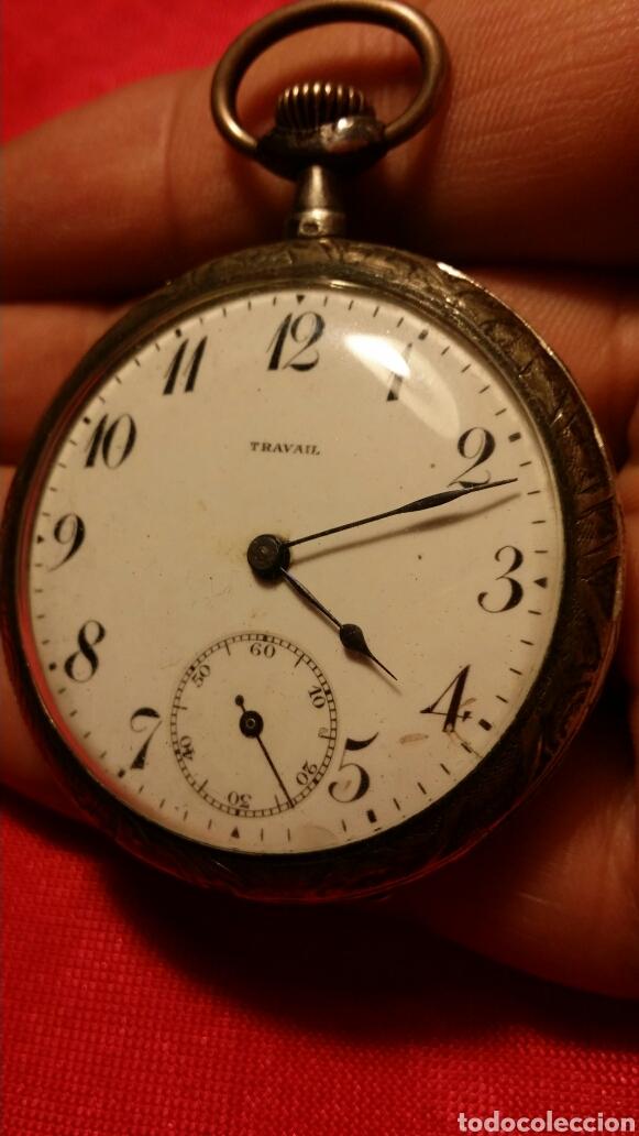 ANTIGUO RELOJ DE BOLSILLO MARCA TRAVAIL MEDALLA DE ORO (Relojes - Bolsillo Carga Manual)