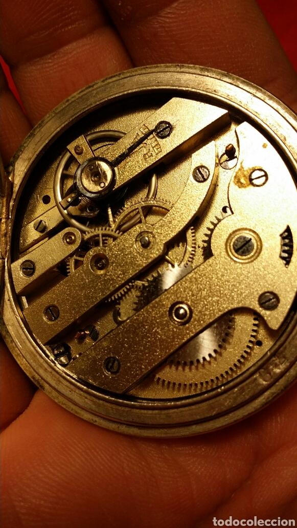Relojes de bolsillo: Antiguo reloj de bolsillo marca chrono besançon a epinal - Foto 5 - 184083081
