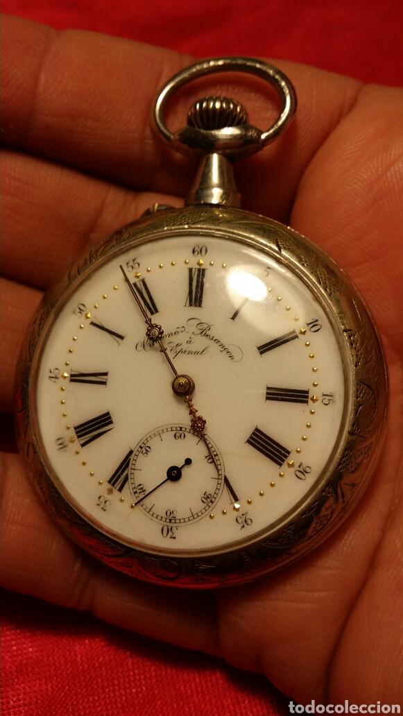 ANTIGUO RELOJ DE BOLSILLO MARCA CHRONO BESANÇON A EPINAL (Relojes - Bolsillo Carga Manual)