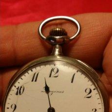 Relojes de bolsillo: ANTIGUO RELOJ DE BOLSILLO LONGINES CAJA DE PLATA. Lote 184164670
