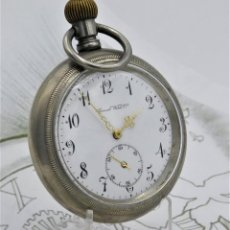 Relojes de bolsillo: GENERAL WATCH CO.-RELOJ DE BOLSILLO-SUIZO-CIRCA 1930-FUNCIONANDO. Lote 184255363