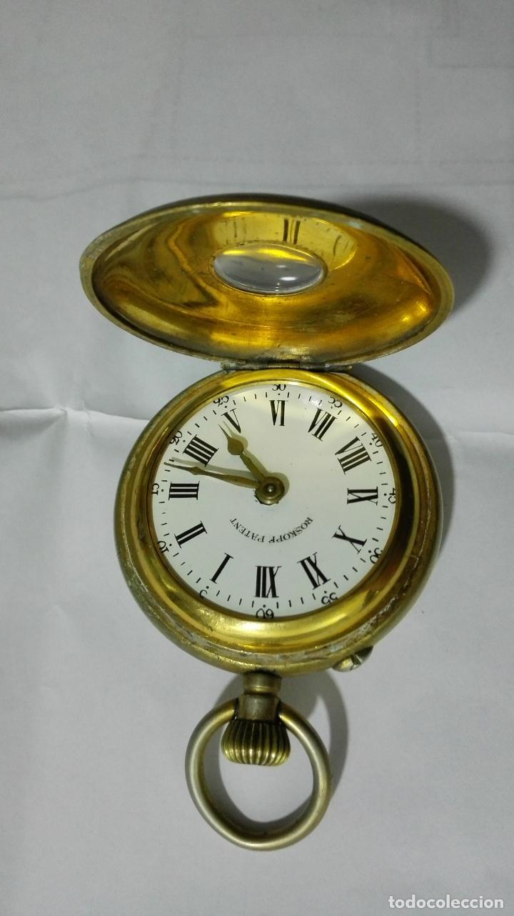 Relojes de bolsillo: ANTIGUO RELOJ ROSKOPF PATENT, DIAMETRO 53 MM, FUNCIONA - Foto 2 - 184335443