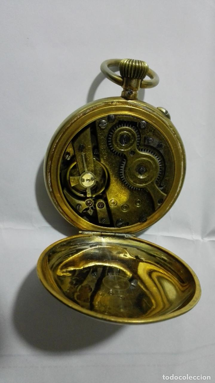Relojes de bolsillo: ANTIGUO RELOJ ROSKOPF PATENT, DIAMETRO 53 MM, FUNCIONA - Foto 5 - 184335443