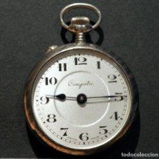 Relojes de bolsillo: ANTIGUO RELOJ DE BOLSILLO SUIZO MARCA COMPÉTIC CARGA MANUAL SWISS MADE EXCELENTE CONSERVACIÓN. Lote 184624812