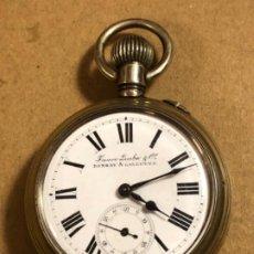 Relojes de bolsillo: RELOJ DE BOLSILLO FAVRE LEUBA & Cº BOMBAY CALCUTTA. Lote 184693013