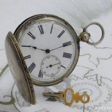 Relojes de bolsillo: DENT LONDON-RELOJ DE BOLSILLO-DE PLATA-SABONETA-3 TAPAS-CIRCA 1875-1890 -FUNCIONANDO. Lote 184809206
