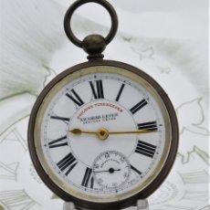 Relojes de bolsillo: MUY RARO-SEGUNDERO GIRA A IZQUIERDAS-RAILWAY TIMEKEEPER NICOBAR LEVER-CIRCA 1910-SUIZO. Lote 126131455